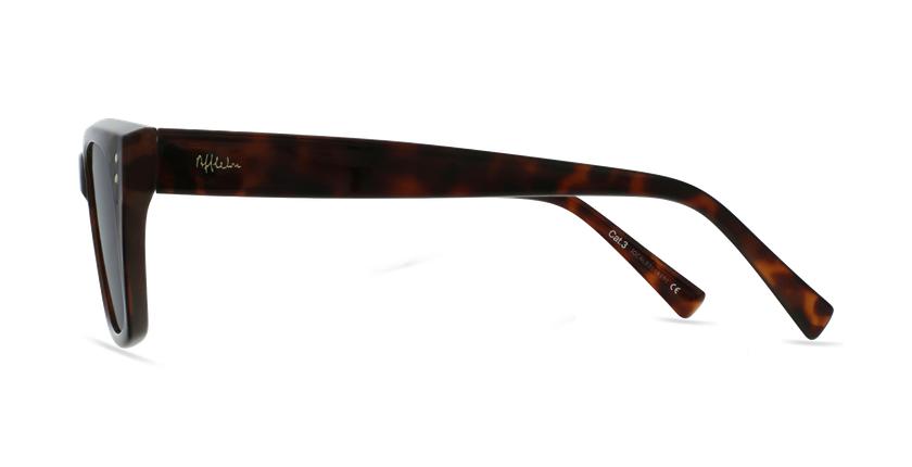 Lunettes de soleil femme LIPSTICK noir - Vue de côté