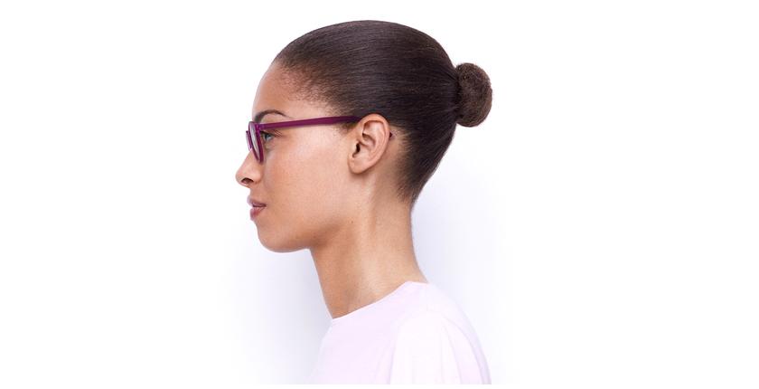Lunettes de vue femme RZERO3 violet - Vue de côté