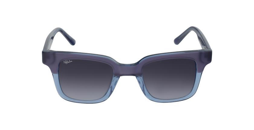 Lunettes de soleil femme KAREN violet/bleu - Vue de face