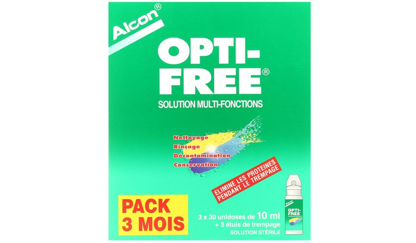 Opti-Free 90x10ml - Vue de face