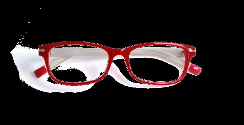 Lunettes de vue femme KENT rouge - Vue de face