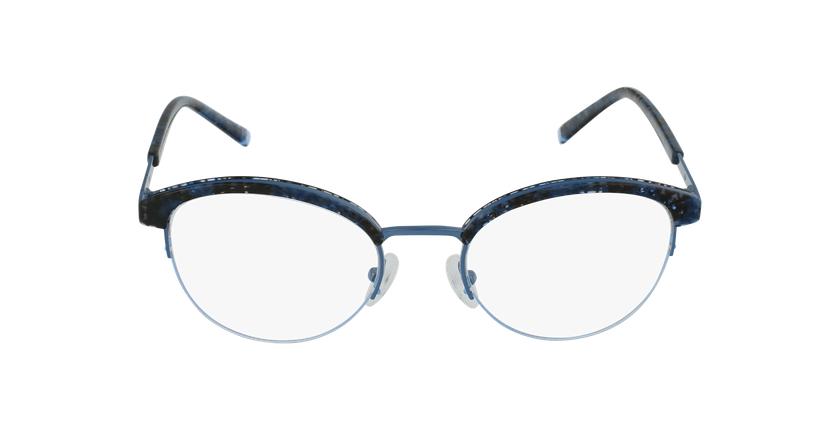 Lunettes de vue femme STRAUSS écaille/bleu - Vue de face