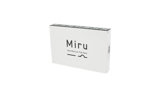 Lentilles de contact Miru 1day Menicon Flat Pack - 3*30 - Vue de face