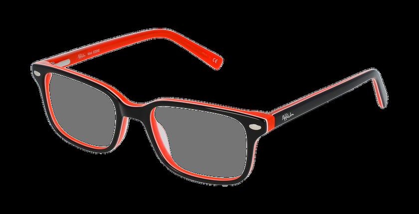 Lunettes de vue enfant EDDIE noir/orange - vue de 3/4