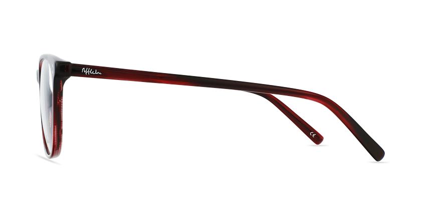 Lunettes de vue homme MAXENCE rouge - Vue de côté
