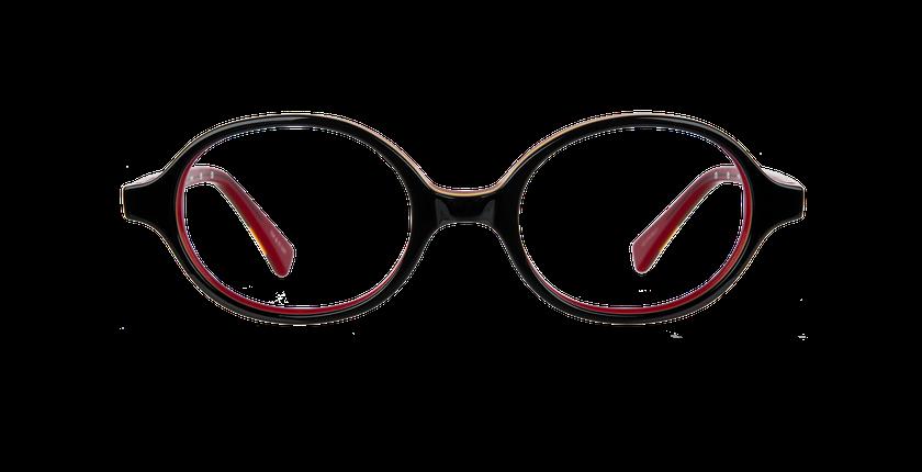 Lunettes de vue enfant KEVIN noir/rouge - Vue de face