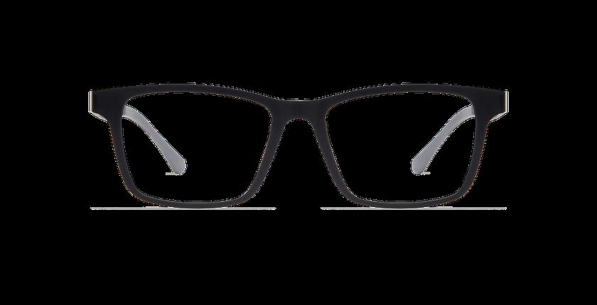 Lunettes de vue homme SMART TONIC 01 noir/noir mat - Vue de face