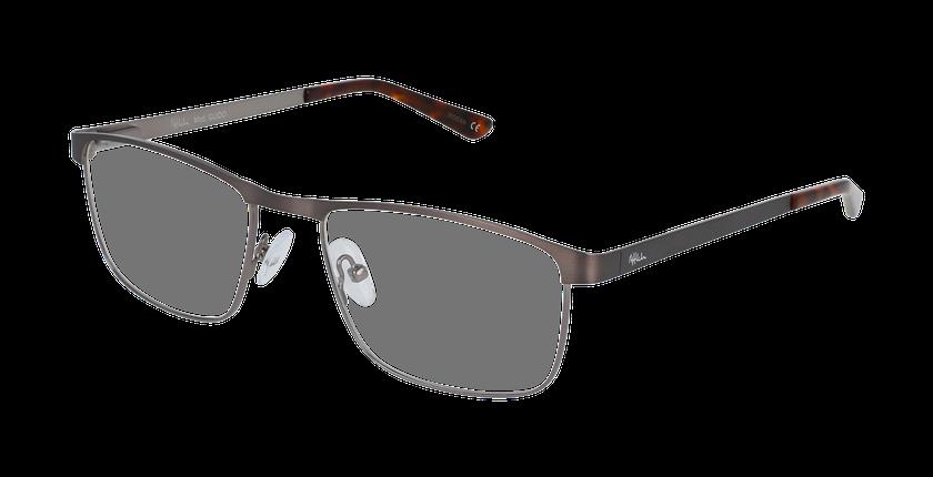 Lunettes de vue homme GUIDO gris/argenté - vue de 3/4