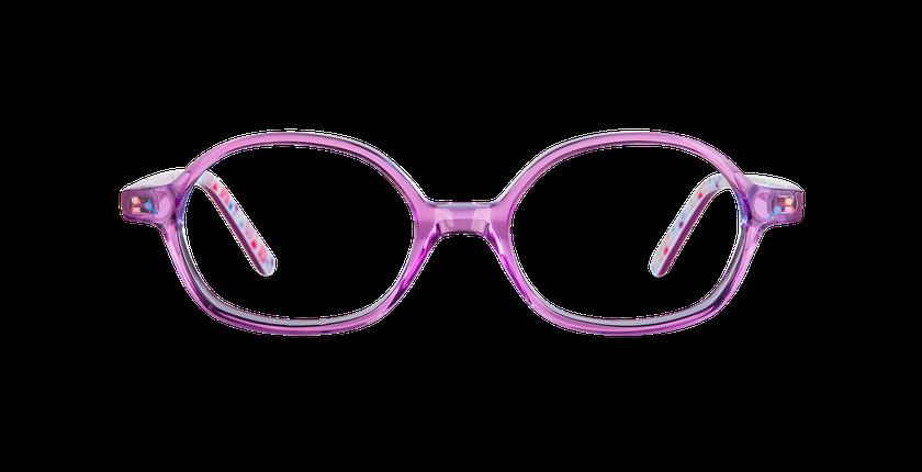 Lunettes de vue enfant FLUFFY1 rose - Vue de face