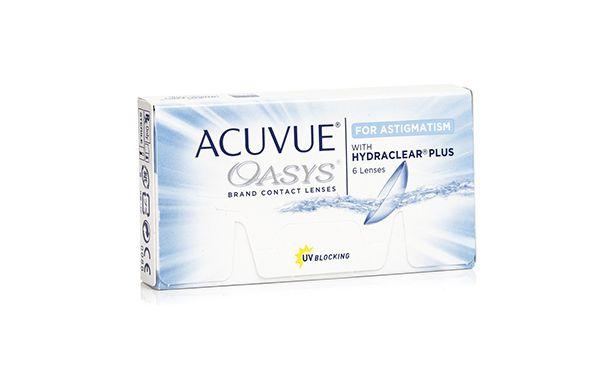 Lentilles de contact Acuvue® Oasys® for Astigmatism 6L - Vue de face