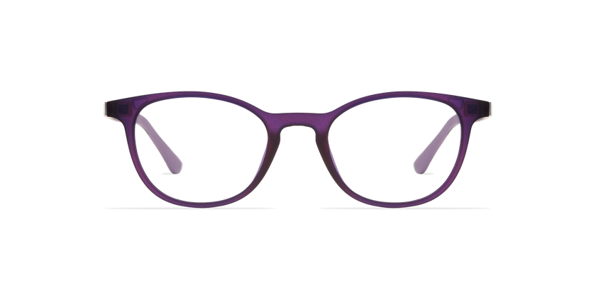Lunettes de vue femme SMART TONIC 18 violet/violet frozen - Vue de face