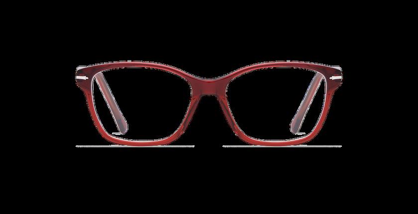 Lunettes de vue femme LADOYE bleu/rouge - Vue de face