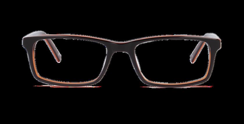 Lunettes de vue homme LEON marron/orange - Vue de face