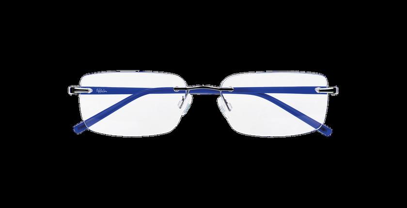 Lunettes de vue homme LIGHT TONIC argenté/bleu - Vue de face