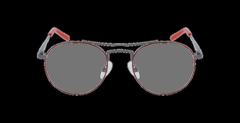 Lunettes de vue enfant LOGAN rouge/gris - Vue de face