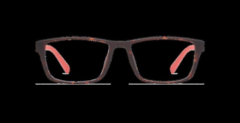 Lunettes de vue homme STRIKE écaille/rouge - Vue de face