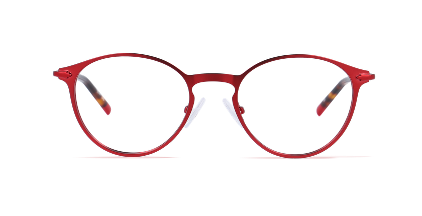 Lunettes de vue homme DUBLIN rouge - Vue de face