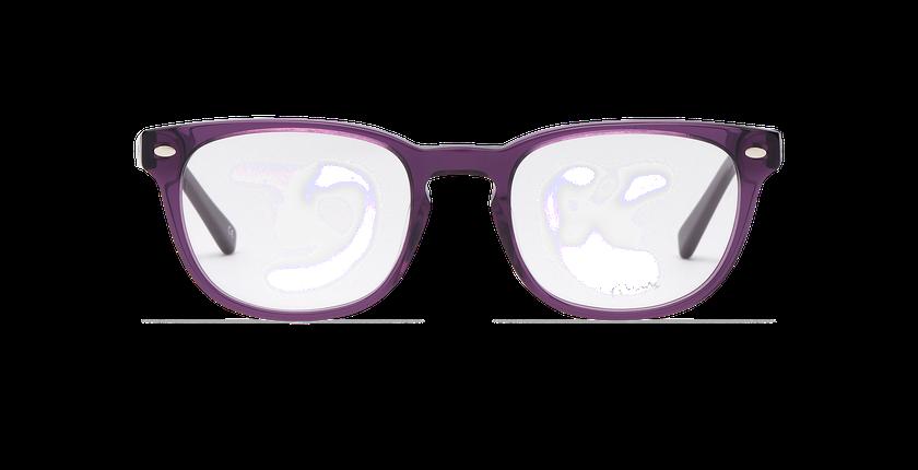 Lunettes de vue homme LUCAS violet - Vue de face