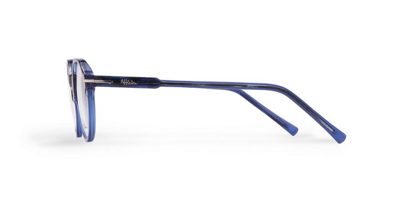 Lunettes de vue homme MOREZ bleu - Vue de côté