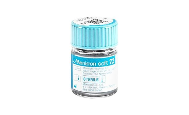 Lentilles de contact Menicon Soft 72 - Vue de face