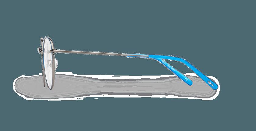 Lunettes de vue MATT bleu/argenté - Vue de côté