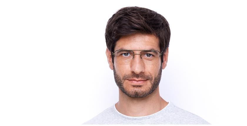 Lunettes de vue homme VPL879 doré/noir - Vue de face