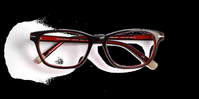 Lunettes de vue femme BELGRAVIA rouge/rouge