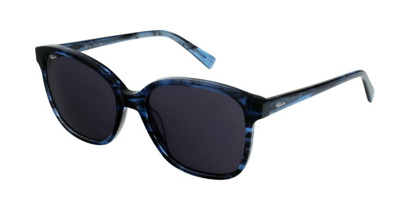Lunettes de soleil femme GLORIA bleu/noir - vue de 3/4