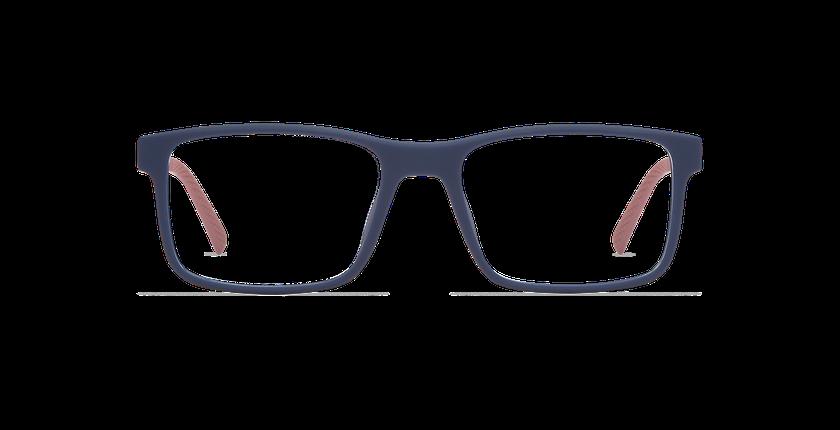 Lunettes de vue homme ACE bleu/rouge - Vue de face