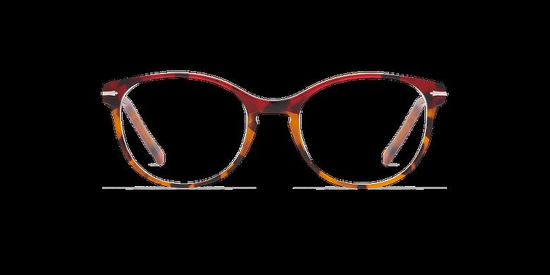 Lunettes de vue femme BELLEFONTAINE rouge/écaille