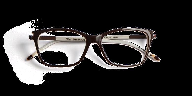 Lunettes de vue femme MEDICIS marron/marron