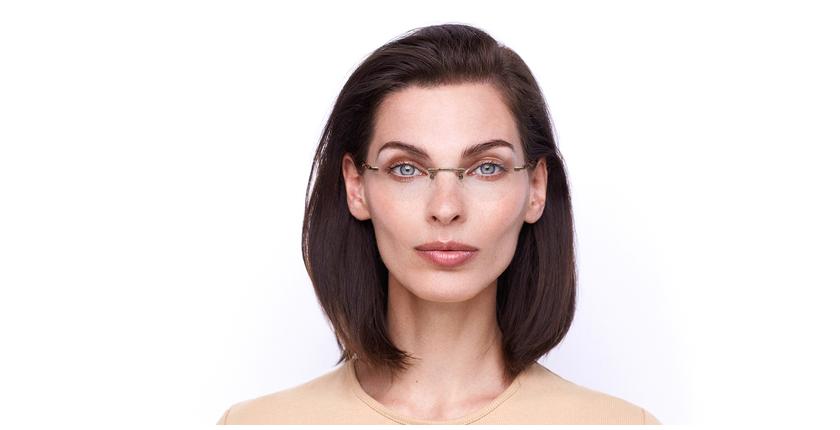 Lunettes de vue femme IDEALE-31 beige - Vue de face