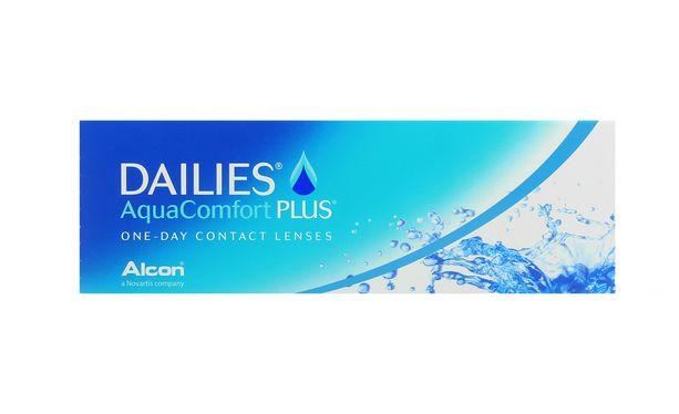 Lentilles de contact Dailies AquaComfort Plus 30L - Vue de face