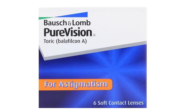 Lentilles de contact PureVision Toric 6L - Vue de face