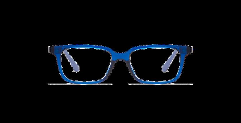 Lunettes de vue enfant MAGIC 12 bleu/bleu cristal - Vue de face