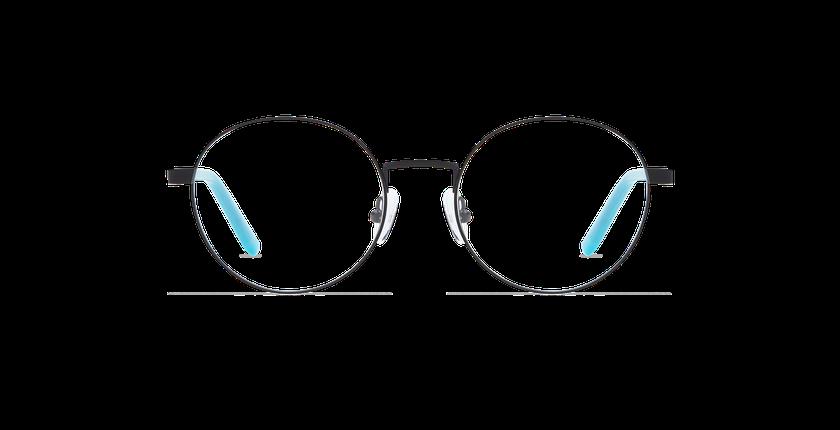 Lunettes de vue femme CLAIRE noir/bleu - Vue de face