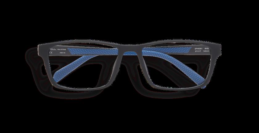 Lunettes de vue homme STRIKE noir/bleu - Vue de face
