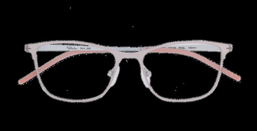 Lunettes de vue femme AIR rose/argenté - Vue de face