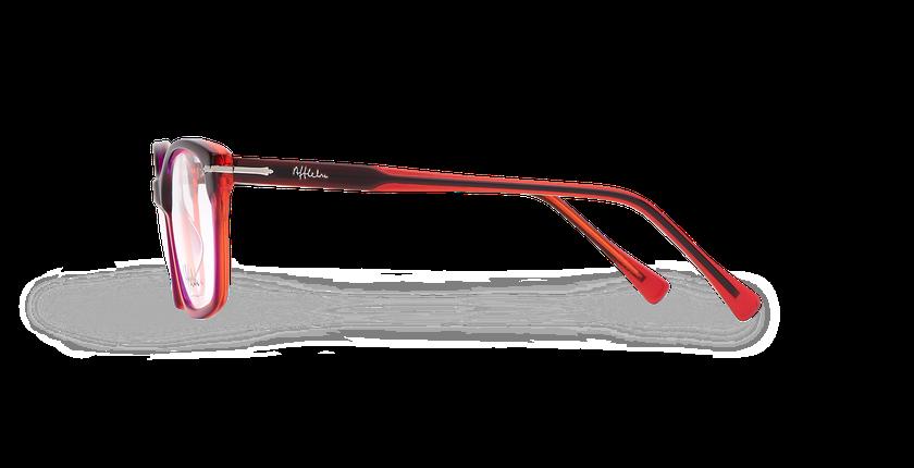 Lunettes de vue femme LADOYE rouge/violet - Vue de côté