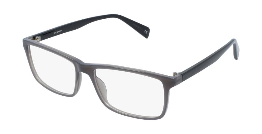 Lunettes de vue homme RZERO10 gris/noir - vue de 3/4