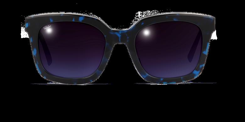 Lunettes de soleil femme CECILE écaille/bleu
