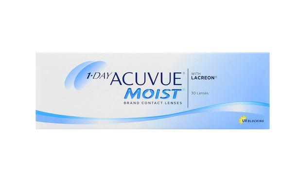 Lentilles de contact 1 Day Acuvue® Moist® 30L - Vue de face