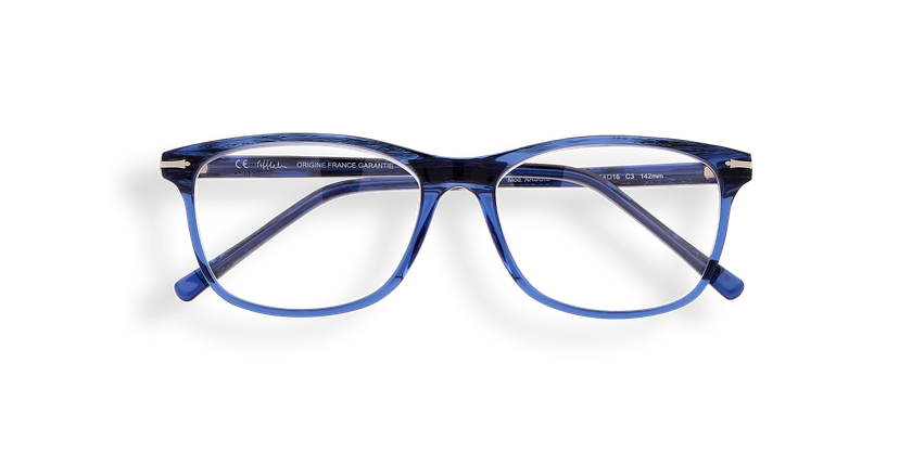 Lunettes de vue homme ARBOIS bleu - Vue de face
