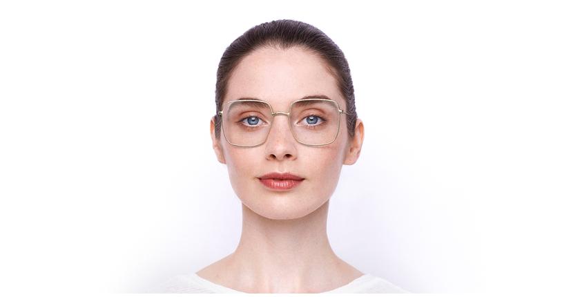 Lunettes de vue femme STELLAIREO1 doré - Vue de face