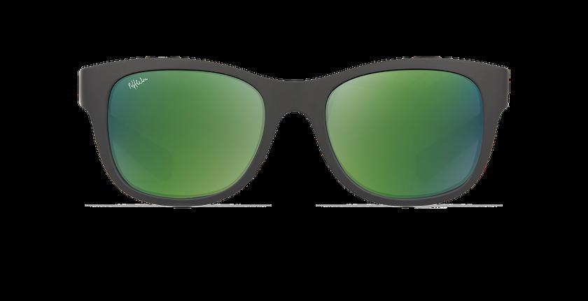 Lunettes de soleil enfant YANI noir/vert - Vue de face