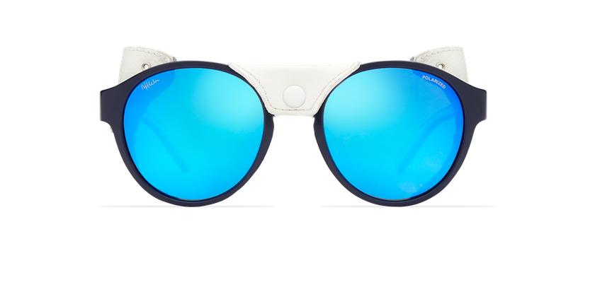 Lunettes de soleil femme FLOCON bleu - Vue de face
