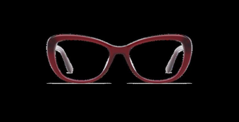 Lunettes de vue femme CINDY rouge - Vue de face