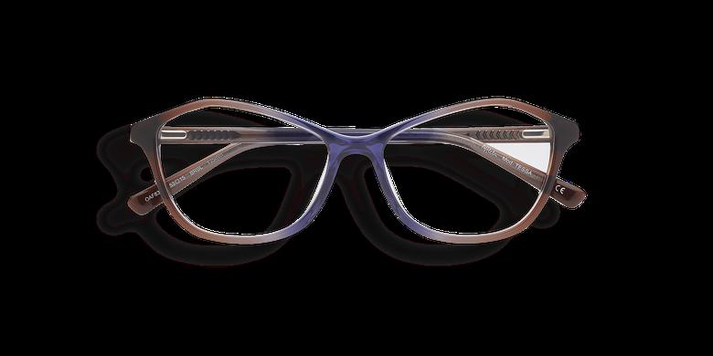 Lunettes de vue femme TESSA marron/bleu