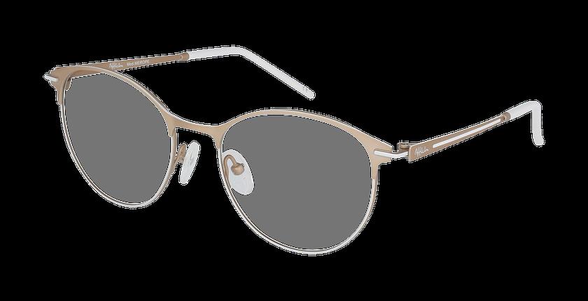 Lunettes de vue femme MEROPE beige/blanc - vue de 3/4