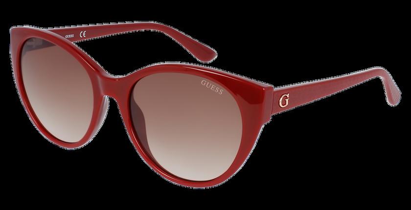 Lunettes de soleil femme GU7594 rouge - vue de 3/4
